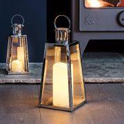 Grande-Lanterne-Trapze-en-Acier-Inoxydable-avec-Bougie-LED--Piles-28cm-par-Lights4fun-0