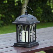 Lanterne-Solaire-Extrieure-Dcorative-Noir-Mat-avec-Bougie-LED-Effet-Vacillant-Pile-Rechargeable-Incluse-Waterproof-27cm-0-1
