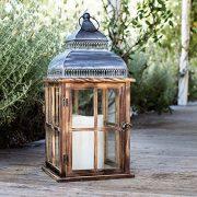 Lights4fun-Grande-Lanterne-en-Bois-Verre-et-Mtal-Patin-avec-Bougie-LED--Piles-56cm-0