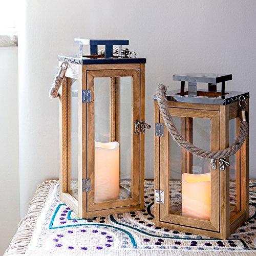 Lights4fun-Grande-Lanterne-en-Bois-avec-Bougie-LED–Piles-et-Anse-en-Corde-34cm-0