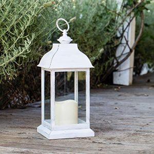 Lights4fun-Lanterne-Blanche-avec-Bougie-LED--Piles-pour-Intrieur-30cm-0