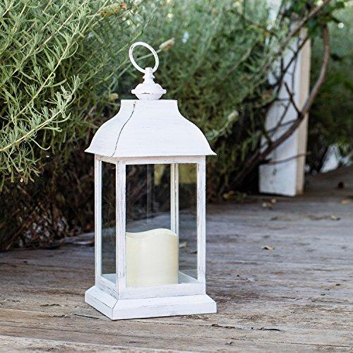 Lights4fun-Lanterne-Blanche-avec-Bougie-LED–Piles-pour-Intrieur-30cm-0