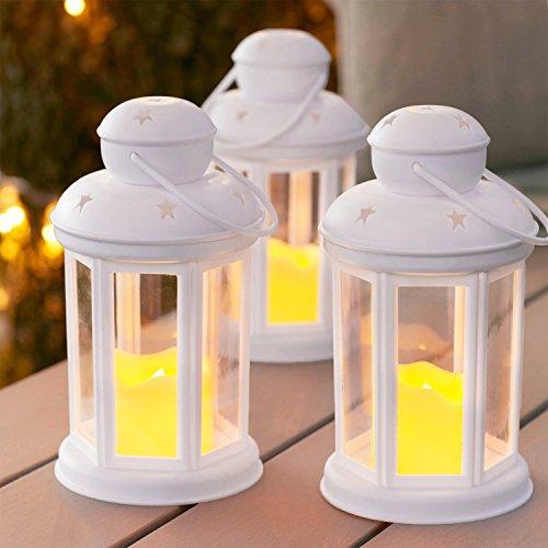 Lights4fun-Lot-DE-12-Lanternes-Blanches-avec-Bougies-LED–Piles-pour-IntrieurExtrieur-0