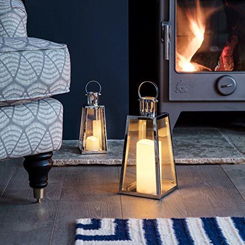 Lights4fun-Lot-DE-2-Lanternes-Trapze-en-Acier-Inoxydable-avec-Bougies-LED–Piles-0-0