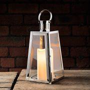 Lights4fun-Lot-DE-2-Lanternes-Trapze-en-Acier-Inoxydable-avec-Bougies-LED--Piles-0-1
