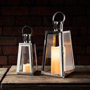 Lights4fun-Lot-DE-2-Lanternes-Trapze-en-Acier-Inoxydable-avec-Bougies-LED--Piles-0