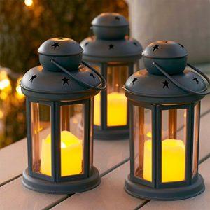 Lights4fun-Lot-DE-3-Lanternes-Gris-avec-Bougies-LED--Piles-pour-IntrieurExtrieur-0