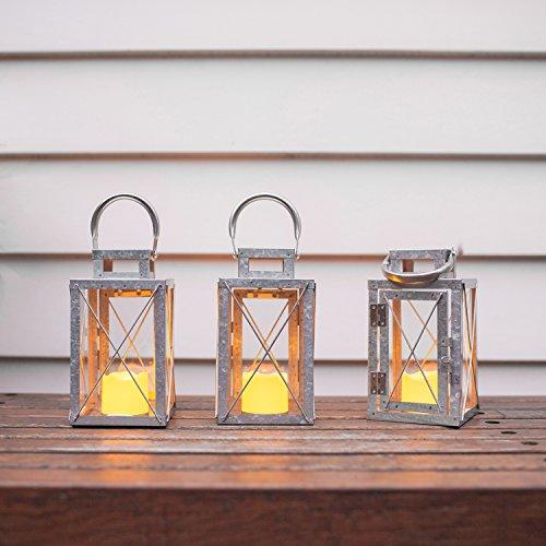 Lights4fun-Lot-DE-3-Lanternes-en-Mtal-Galvanis-avec-Bougie-LED-pour-Jardin–Piles-18cm-0