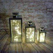 Lot-de-3-lanternes-en-mtal-argent-et-verre-avec-3-jeux-de-lumires-LED-inclus-0-0