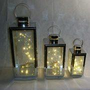 Lot-de-3-lanternes-en-mtal-argent-et-verre-avec-3-jeux-de-lumires-LED-inclus-0-1