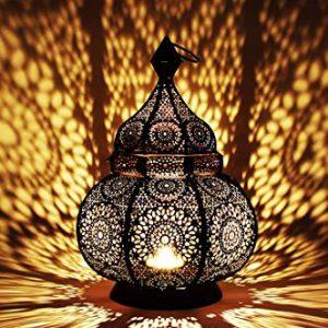 Petite-Lanterne-marocaine-en-mtal-Ziva-30cm-noir-Photophore-marocain-pour-lextrieur-au-jardin-ou-lintrieur-sur-la-table-Lanternes-pour-bougie-dcoration-de-maison-orientale-0