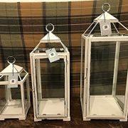 Classic-Open-Top-vintage-Blanc-Lanterne--Metal-candle-Holder-tea-Light--Lanterne-blanc-Small-125X125X27cm-0