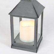 Festive-Lights-Lanterne-dextrieur--Piles-Effet-mtal-Blanc-Chaud-LED-Gris-0-0