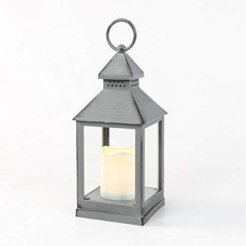 Festive-Lights-Lanterne-dextrieur–Piles-Effet-mtal-Blanc-Chaud-LED-Gris-0