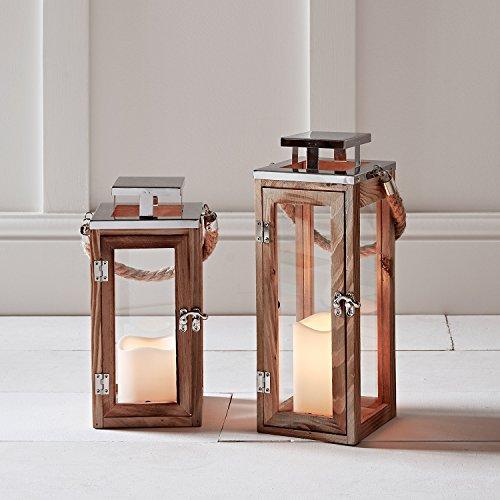 Lights4fun-Lot-de-2-Lanternes-en-Bois-avec-Bougies-LED–Piles-et-Anses-en-Corde-0