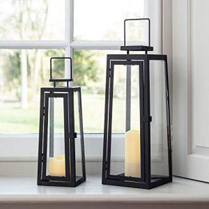 Lights4fun-Lot-de-2-Lanternes-Lumineuses-pour-Extrieur-en-Mtal-0
