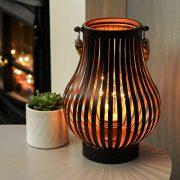 Lanterne-Mtal-avec-Ampoule-Vintage-et-Anse-en-Corde-Lampion-Dcoration-IntrieureExtrieure--Piles-215cm-clairage-Blanc-Chaud-par-Festive-Lights-0-0