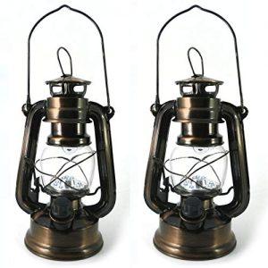 Lot-de-2-Lanterne-LED-Tempte-Lampe-Decorative-Vintage-Retro-Bronze--Pile-pour-Camping-Maison-Table-Dco-de-PK-Green-0