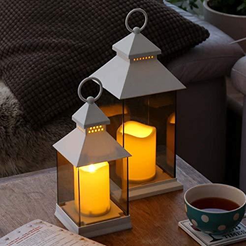 Lanterne-avec-Bougie-LED–Piles-Gamme-2019-Gris-Noir-ou-Blanc-Paroi-Incassable-Effet-Verre-Teint-Dcoration-IntrieureExtrieure-Waterproof-Morderne-et-lgante-par-Festive-Lights-0