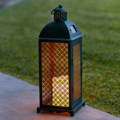 Lights4fun-Lot-de-2-x-Grandes-Lanternes-Solaires-Marocaines-en-Mtal-avec-Bougie-LED-pour-Jardin-0