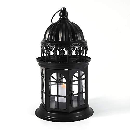 QHYK-Lanterne-dcoratives-Barock-Lanterne-mtallique-avec-Bougie-LED-sans-Flamme-Lanternes-pour-extrieur-au-Jardin-ou-lintrieur-Patio-Fte-Dcoration-Noir-0